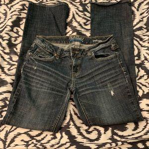 Refuge destructed boot cut jeans